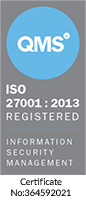 iso 27001 badge grey
