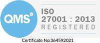 iso 27001 badge white